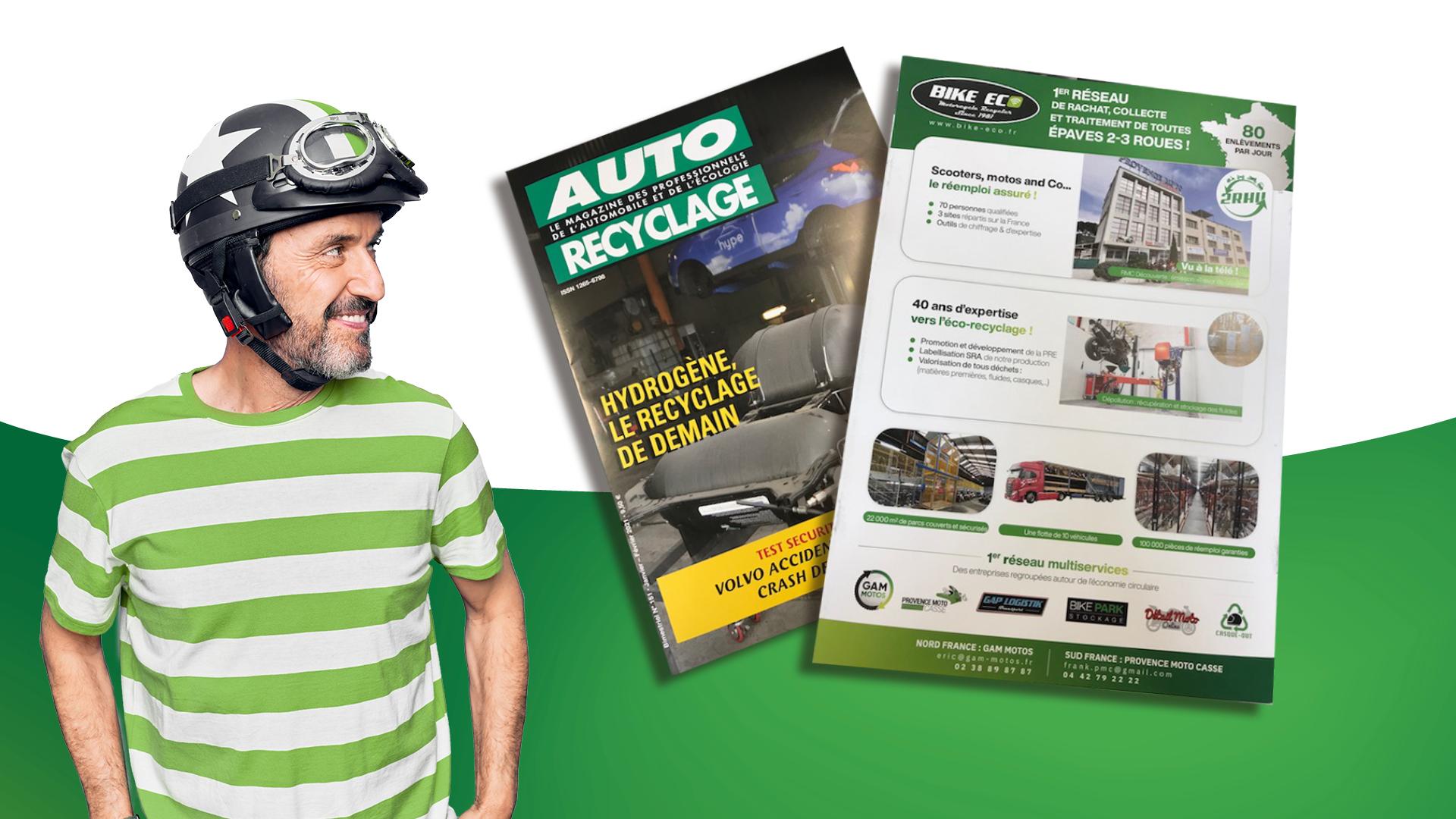 BIKE Eco dans le journal AUTO-Recyclage !